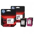 Tusze Oryginalne HP 652 (F6V25AE, F6V24AE) (komplet)