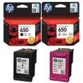 Tusze Oryginalne HP 650 (CZ101AE, CZ102AE) (komplet)
