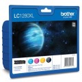 Tusze Oryginalne Brother LC-1280 XL CMYK (LC1280XLVALBP) (komplet)