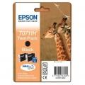 Tusze Oryginalne Epson T0711 (C13T0711H4010) (Czarne) (dwupak)