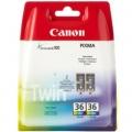 Tusze Oryginalne Canon CLI-36 (1511B018) (Kolorowe) (dwupak)