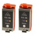 Tusze Zamienniki CLI-36 do Canon (1511B018) (Kolorowe) (dwupak)