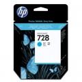 Tusz Oryginalny HP 728 (F9J67A) (Błękitny)