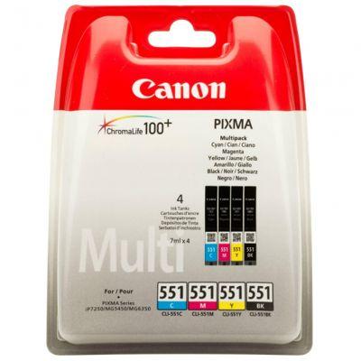 Tusze oryginalne PGI-550/CLI-551 CMYK do Canon (CLI-551-CMYK) (komplet)