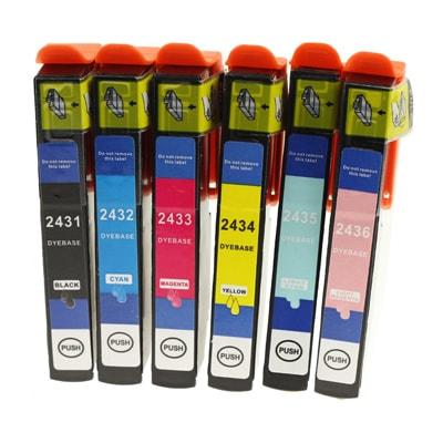 Tusze zamienniki T2438 do Epson (C13T24384010) (komplet)