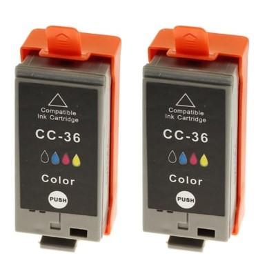 Tusze zamienniki CLI-36 do Canon (1511B018) (Kolorowy) (dwupak)