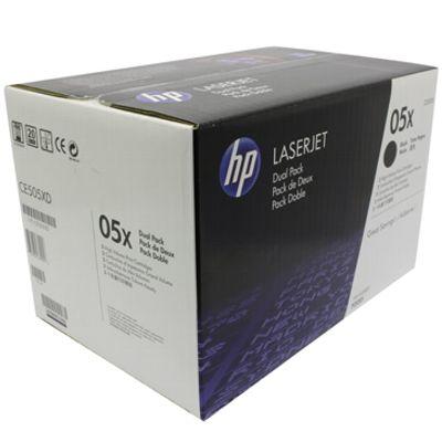 Tonery oryginalne 05X do HP (CE505XD) (Czarny) (dwupak)