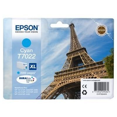 Tusz oryginalny T7022 do Epson (C13T70224010) (Błękitny)