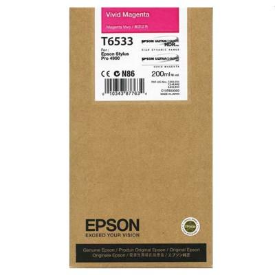 Tusz oryginalny T6533 do Epson (C13T653300) (Purpurowy)