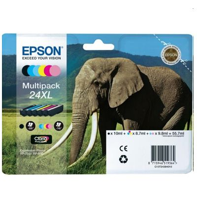 Tusze oryginalne T2438 do Epson (C13T24384010) (komplet)