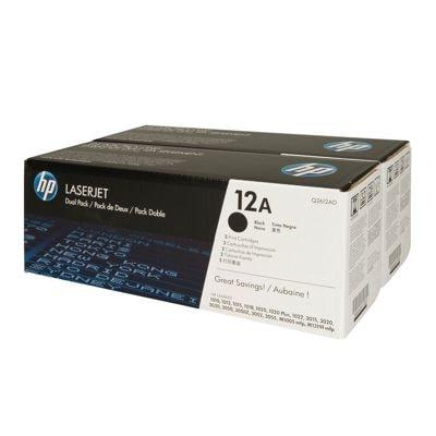 Tonery oryginalne 12A do HP (Q2612AD) (Czarny) (dwupak)