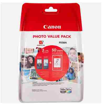 Tusze oryginalne PG-560XL + CL-561XL do Canon (3712C004) (komplet)