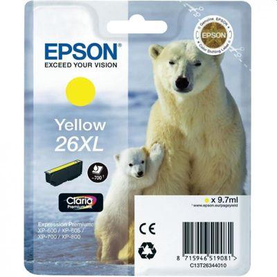 Tusz oryginalny T2634 do Epson (C13T26344010) (Żółty)