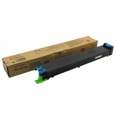 Toner oryginalny MX-31GTCA do Sharp (MX31GTCA) (Błękitny)