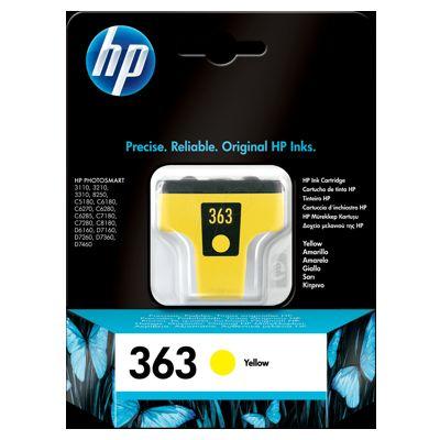Tusz oryginalny 363 do HP (C8773E) (Żółty)