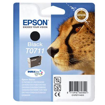 Tusz oryginalny T0711 do Epson (C13T07114010) (Czarny)