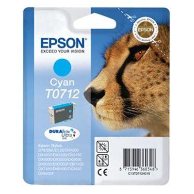 Tusz oryginalny T0712 do Epson (C13T07124010) (Błękitny)