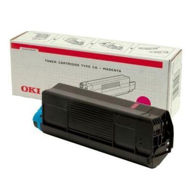 Toner oryginalny C5100 do Oki (42127406) (Purpurowy)