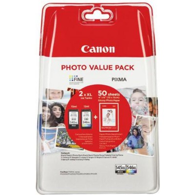 Tusze oryginalne PG-545 XL + CL-546 XL do Canon (8286B006) (komplet)