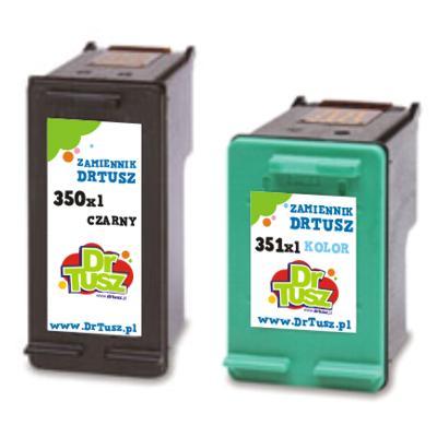 Tusze zamienniki 350 + 351 do HP (SD412EE) (komplet)