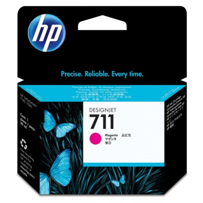 Tusz oryginalny 711 do HP (CZ131A) (Purpurowy)