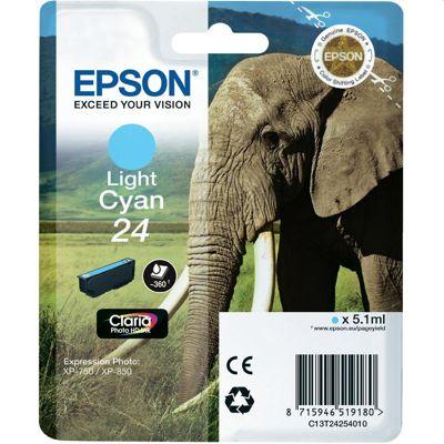 Tusz oryginalny T2425 do Epson (C13T24254010) (Jasny błękitny)