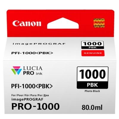 Tusz oryginalny PFI-1000PBK do Canon (0546C001) (Czarny Foto)
