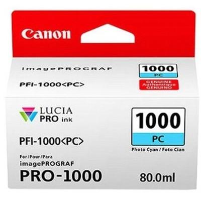 Tusz oryginalny PFI-1000PC do Canon (0550C001) (Błękitny Foto)