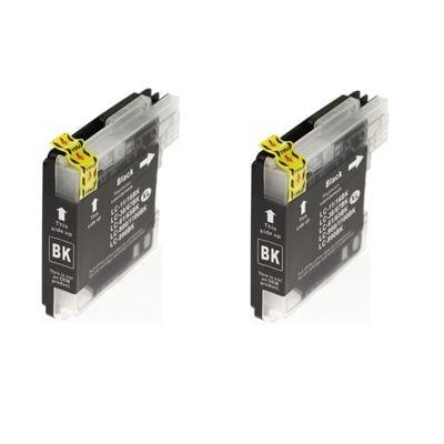 Tusze zamienniki LC-1100 BK do Brother (LC1100BKBP2) (Czarny) (dwupak)