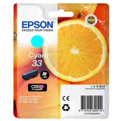 Tusz oryginalny T3342 do Epson (C13T33424012) (Błękitny)