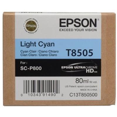 Tusz oryginalny T8505 do Epson (C13T850500) (Jasny błękitny)