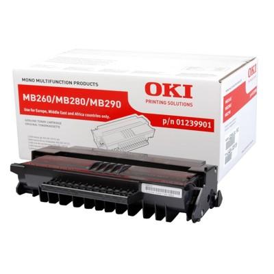 Toner oryginalny MB 260 do Oki (1239901) (Czarny)