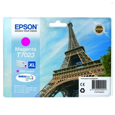 Tusz oryginalny T7023 do Epson (C13T70234010) (Purpurowy)