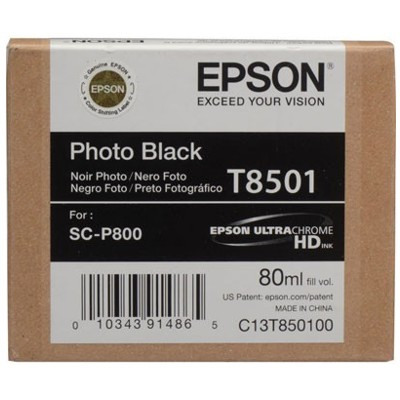 Tusz oryginalny T8501 do Epson (C13T850100) (Czarny Foto)