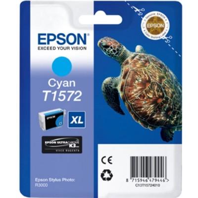 Tusz oryginalny T1572 do Epson (C13T15724010) (Błękitny)