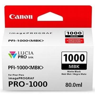 Tusz oryginalny PFI-1000MBK do Canon (0545C001) (Czarny matowy)