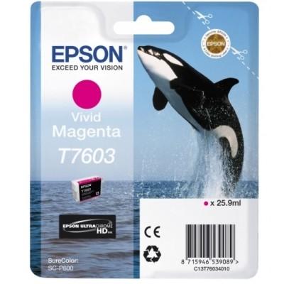 Tusz oryginalny T7603 do Epson (C13T76034010) (Purpurowy)