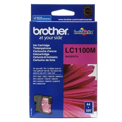 Tusz oryginalny LC-1100 M do Brother (LC1100M) (Purpurowy)