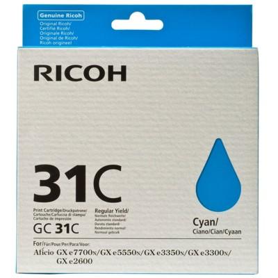 Tusz oryginalny GC-31C do Ricoh (405689) (Błękitny)