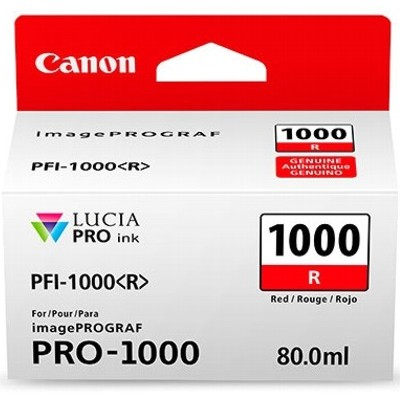 Tusz oryginalny PFI-1000R do Canon (0554C001) (Czerwony)
