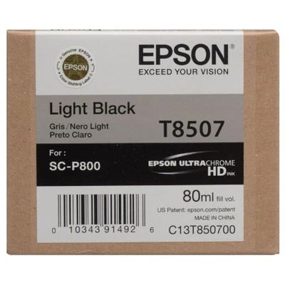 Tusz oryginalny T8507 do Epson (C13T850700) (Jasny czarny)