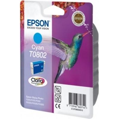 Tusz oryginalny T0802 do Epson (C13T08024011) (Błękitny)