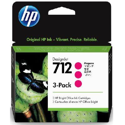 Tusze oryginalne 712 do HP (3ED78A) (Purpurowy) (trójpak)
