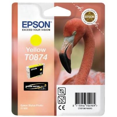 Tusz oryginalny T0874 do Epson (C13T08744010) (Żółty)