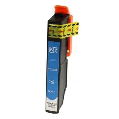 Tusz zamiennik T2632 do Epson (C13T26324010) (Błękitny)