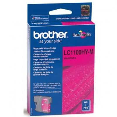 Tusz oryginalny LC-1100HY M do Brother (LC1100HYM) (Purpurowy)