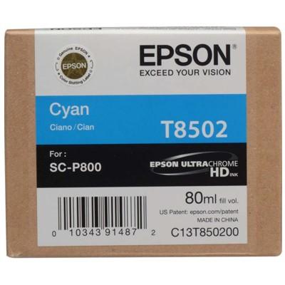 Tusz oryginalny T8502 do Epson (C13T850200) (Błękitny)