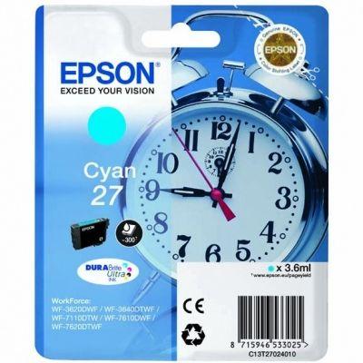 Tusz oryginalny T2702 do Epson (C13T270240) (Błękitny)