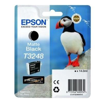 Tusz oryginalny T3248 do Epson (C13T32484010) (Czarny matowy)