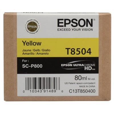 Tusz oryginalny T8504 do Epson (C13T850400) (Żółty)